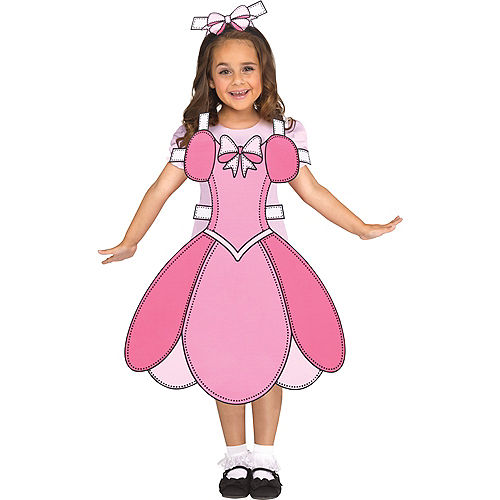 Girls Paper Doll Costume Image #1