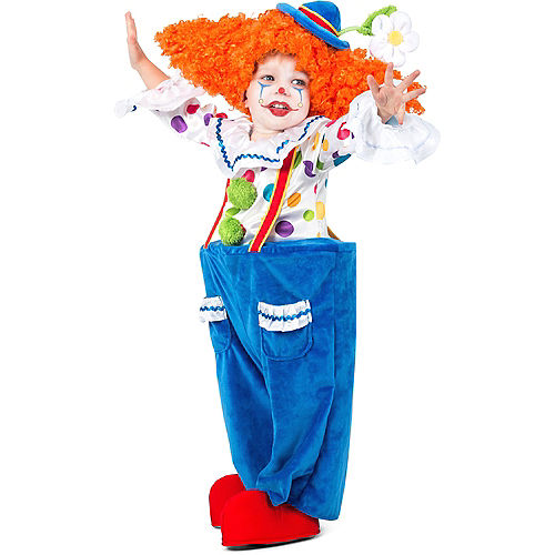 Child Colorful Circus Clown Costume Image #1
