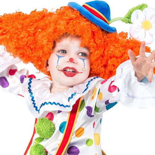 Child Colorful Circus Clown Costume Image #2