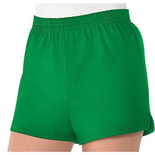 Womens Green Sport Shorts Image #1
