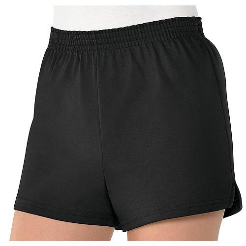Womens Black Sport Shorts Image #1