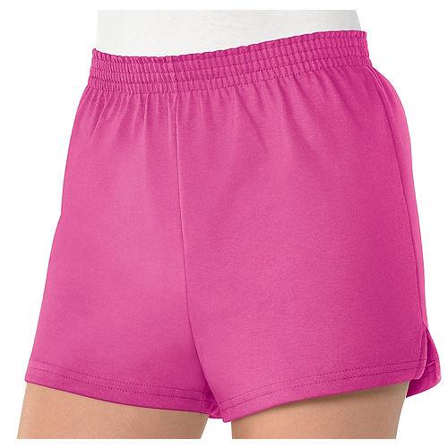 Womens Pink Sport Shorts Image #1