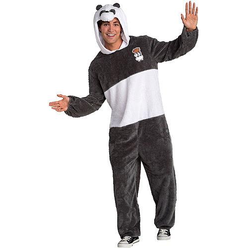 Adult Panda Bear One Piece Costume - We Bare Bears Image #1
