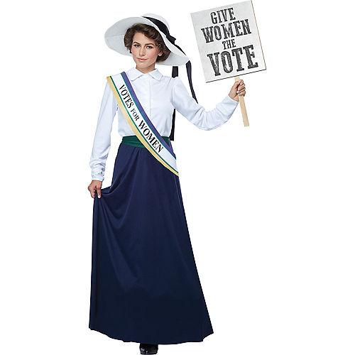 Womens American Suffragette Costume Image #1