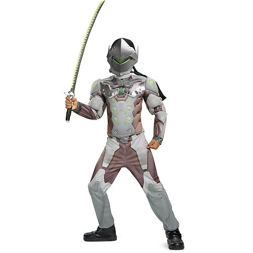Boys Genji Muscle Costume - Overwatch Image #1
