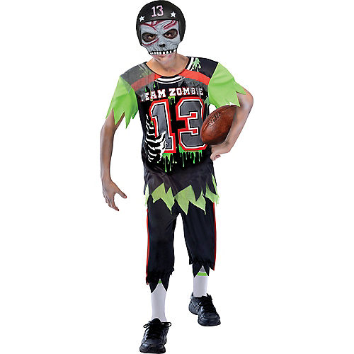 Boys Zombie Football Player Costume Image #1