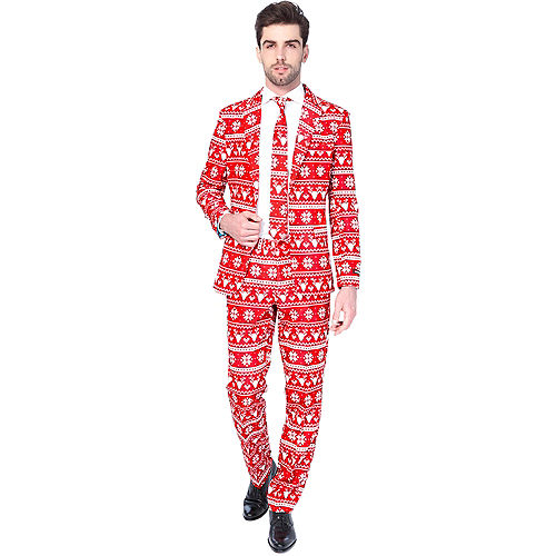 Adult Nordic Christmas Suit Image #1