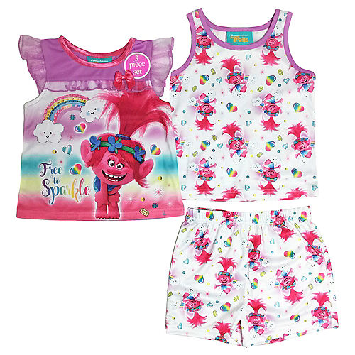 Toddler Girls Trolls Pajama Set 3pc Image #1
