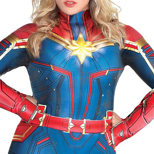 Adult Light-Up Captain Marvel Costume Plus Size - Captain Marvel Image #2