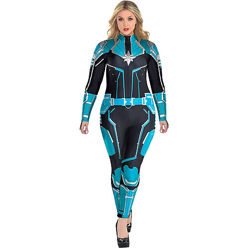 Adult Captain Marvel Starforce Costume Plus Size- Captain Marvel Image #1