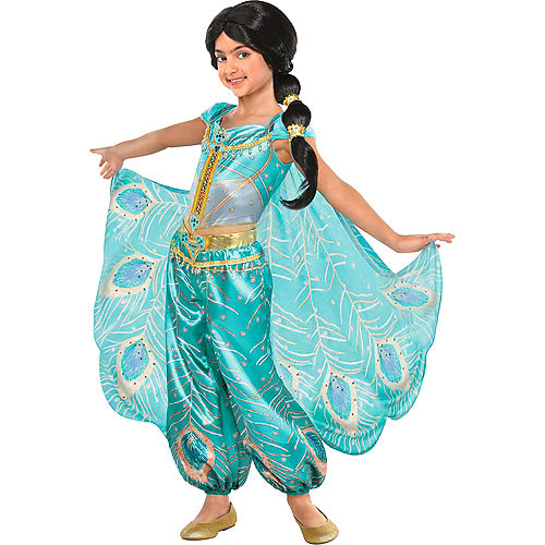 Nav Item for Child Jasmine Whole New World Costume - Aladdin Image #1