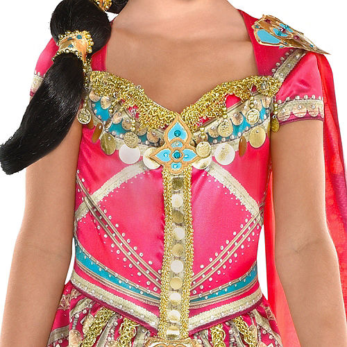 Nav Item for Child Pink Jasmine Costume - Aladdin Image #3