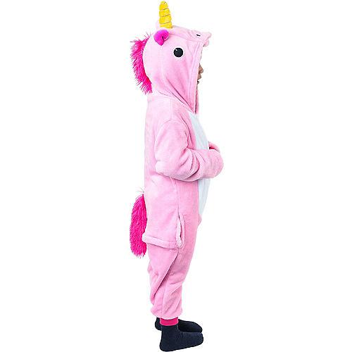 Child Zipster Pink Unicorn One Piece Costume Image #2