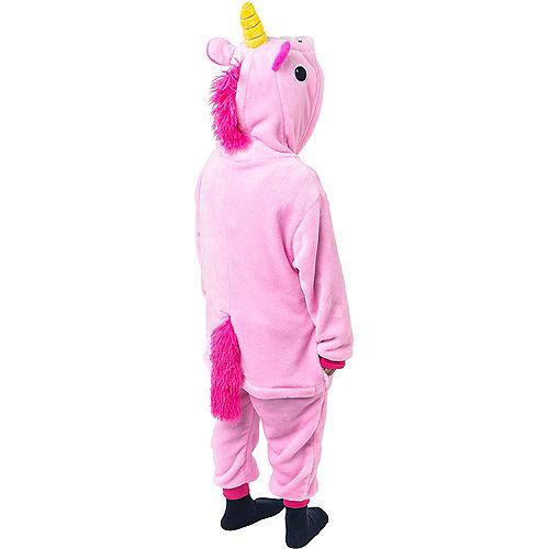 Child Zipster Pink Unicorn One Piece Costume Image #4