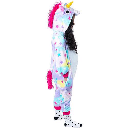 Child Zipster Pastel Unicorn One Piece Costume Image #2