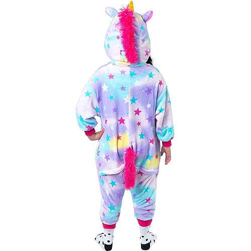 Child Zipster Pastel Unicorn One Piece Costume Image #3