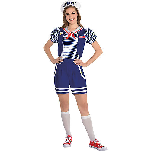 Adult Robin Scoops Ahoy Costume - Stranger Things Image #1