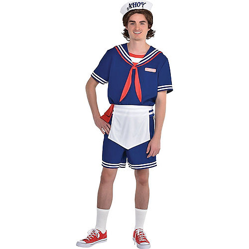 Adult Steve Scoops Ahoy Costume - Stranger Things Image #1