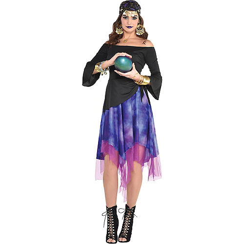 Adult Fortune Teller High-Low Dress Image #1
