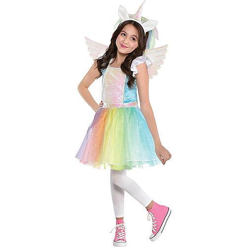 Child Iridescent Rainbow Unicorn Costume Image #1