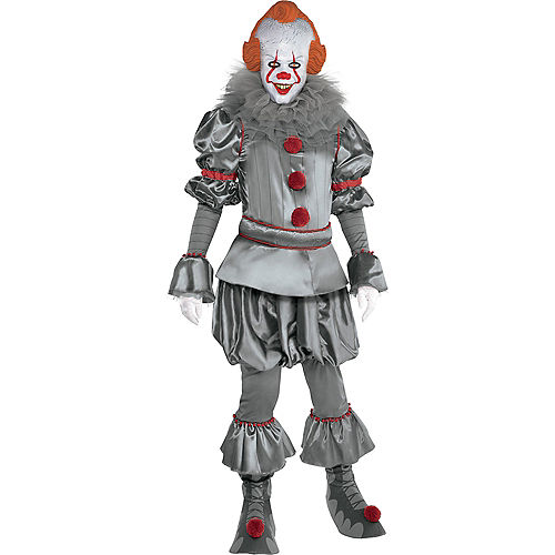 Adult Tattered Pennywise Deluxe Costume - It Chapter Two Image #1
