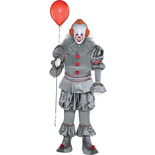Adult Tattered Pennywise Costume Plus Size - It Chapter Two Image #1