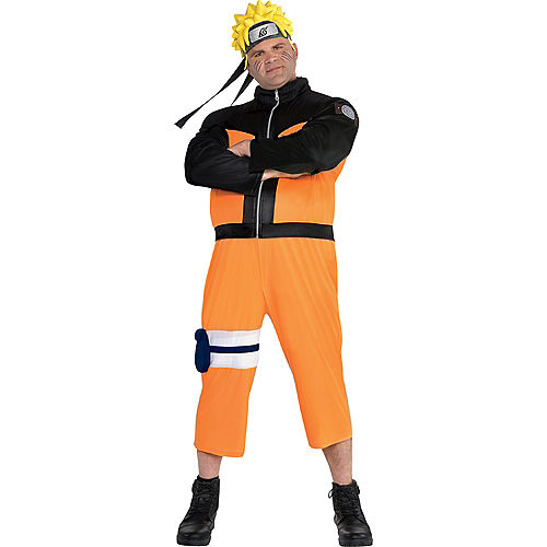 Adult Naruto Costume Plus Size Image #1