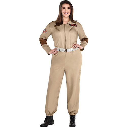 Adult Classic Ghostbusters Costume Plus Size Image #1