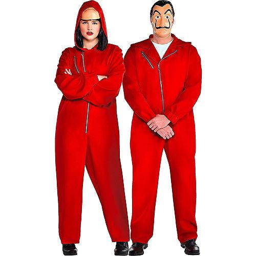 Adult Money Heist Costume Plus Size Image #1