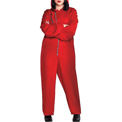 Adult Money Heist Costume Plus Size Image #3
