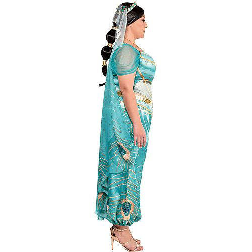 Adult Jasmine Whole New World Costume Plus Size - Aladdin Live-Action Image #2
