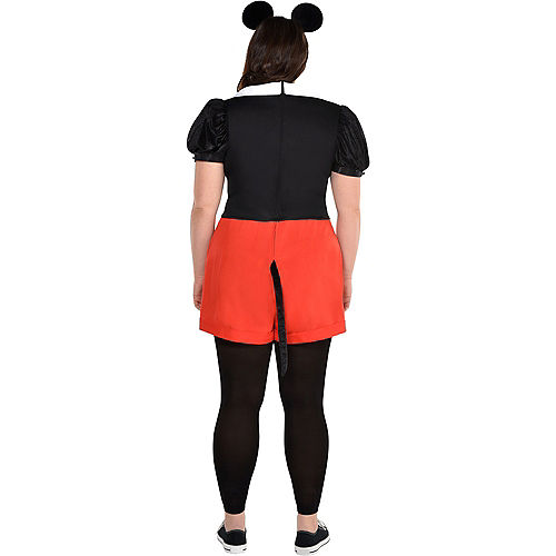 Adult Trendy Mickey Mouse Costume Plus Size Image #2