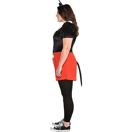 Adult Trendy Mickey Mouse Costume Plus Size Image #3