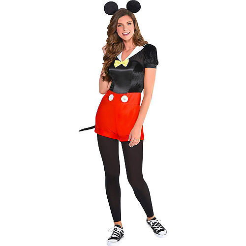 Adult Trendy Mickey Mouse Costume Image #1