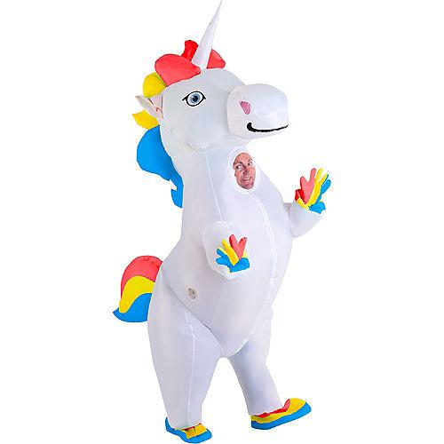 Adult Inflatable Standing Unicorn Costume Image #1