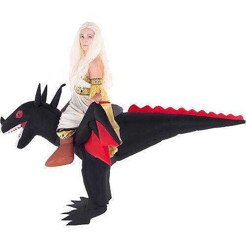 Adult Inflatable Black Dragon Ride-On Costume Image #2