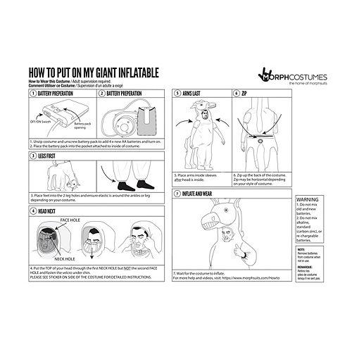 Adult Inflatable Black Dragon Ride-On Costume Image #4