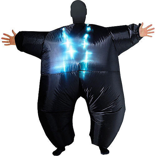 Adult Light-Up Inflatable Black Morphsuit Image #1