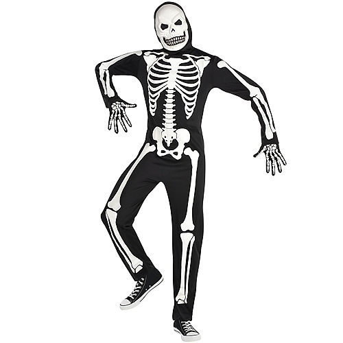 Adult Glow-in-the-Dark X-Ray Skeleton Costume Image #1
