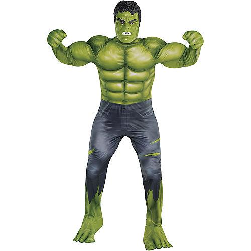 Adult Hulk Muscle Costume Plus Size - Avengers: Endgame Image #1