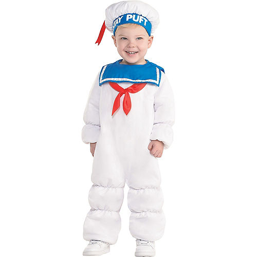 Baby Padded Stay Puft Marshmallow Man Costume - Ghostbusters Image #1