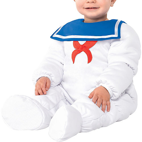 Baby Padded Stay Puft Marshmallow Man Costume - Ghostbusters Image #4