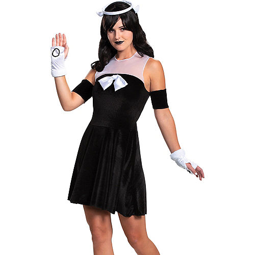 Adult Alice Angel Costume - Bendy and the Ink Machine Image #3