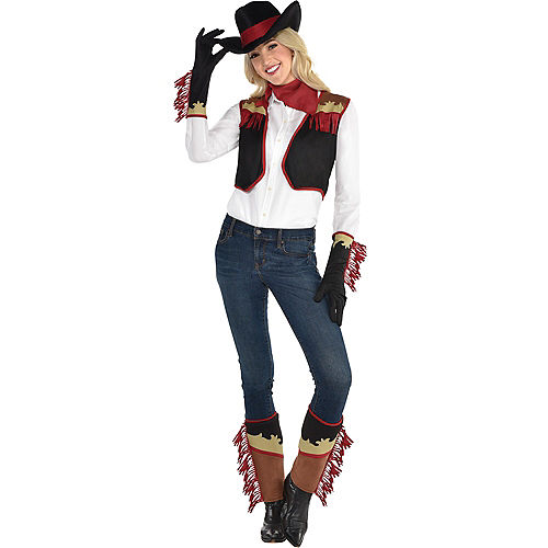 Adult Cowgirl Costume Accessory Kit Image #1
