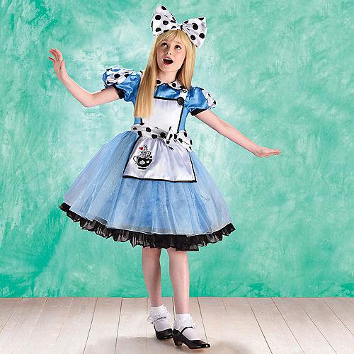 Child Curious Alice Costume Image #1