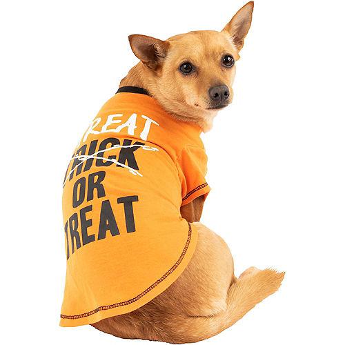 Black & Orange Treat-Or-Treat Dog T-Shirt Image #1