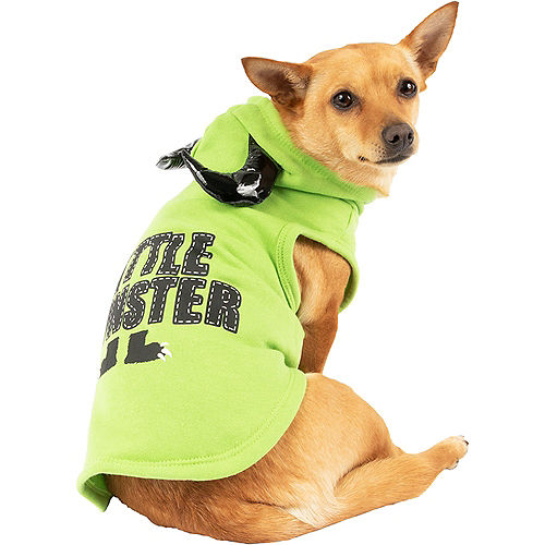 Green Little Monster Dog Hoodie with Horns Image #1