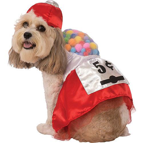 Red Gumball Machine Dog Costume Image #1