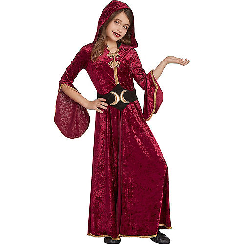 Child Hooded Witch Cloak Costume Image #1