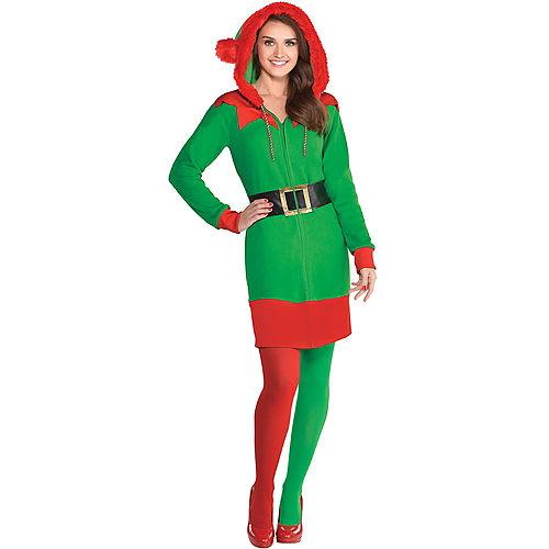 Adult Elf Zipster Costume Image #1
